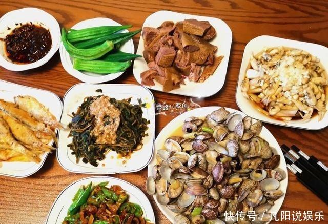 鲜美|去姑妈家,姑妈做这些菜招待我,鲜美好吃,发圈后朋友减脂好菜