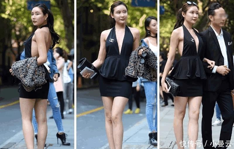 时髦|有钱人穿的时髦真是与众不同, 小姐姐一身欧美范真敢穿!